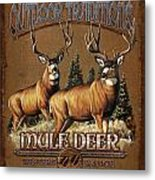 Outdoor Traditions Mule Deer Metal Print by JQ Licensing