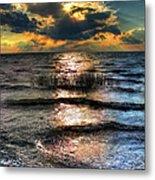 Outer Banks - Radical Sunset On Pamlico Metal Print by Dan Carmichael