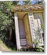 Outhouse For Two Metal Print by Sue Smith
