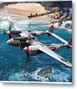 P-38 Lightning Battle Axe Metal Print by Mark Karvon