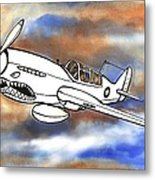 P-40 Warhawk 1 Metal Print by Scott Nelson