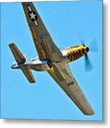P-51 Mustang Wing Over Metal Print by Puget  Exposure