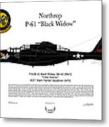 P-61b Black Widow Metal Print by Arthur Eggers