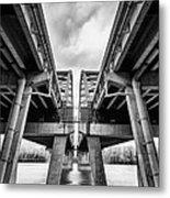 Page Bridge Geometry Metal Print by Bill Tiepelman