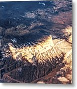 Painted Earth Iv Metal Print by Jenny Rainbow