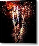Painted Fireworks Metal Print by Andrea Barbieri