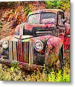 Painted Ford Metal Print by Robert Jensen