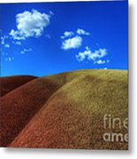 Painted Hills Blue Sky 1 Metal Print by Bob Christopher