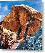 Painting Half Dome Yosemite N P Metal Print by Bob and Nadine Johnston