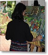 Painting My Backyard 2 Metal Print by Becky Kim