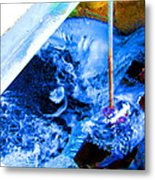 Painting With Water Metal Print by Mike McCool