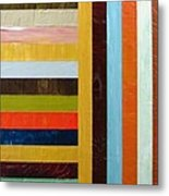 Panel Abstract L Metal Print by Michelle Calkins