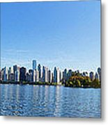 Panorama Of Vancouver Harbor Metal Print by Jodi Jacobson