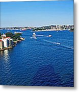 Panoramic Sydney Harbour Metal Print by Kaye Menner