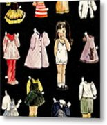 Paper Doll Amy Metal Print by Marilyn Smith