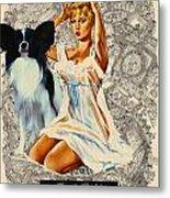 Papillon Art - Una Parisienne Movie Poster Metal Print by Sandra Sij