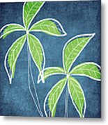 Paradise Palm Trees Metal Print by Linda Woods