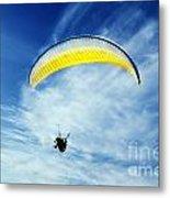 Paraglider Metal Print by Jelena Jovanovic