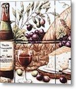 Pardo Vineyards Wine And Cheese Metal Print by Julia Sweda