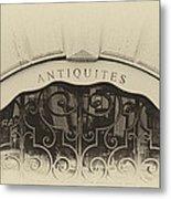 Paris Antique Store Sign Metal Print by Tony Grider