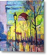 Paris Arc De Triomphie  Metal Print by Yuriy  Shevchuk