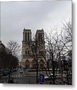Paris France - Notre Dame De Paris - 011311 Metal Print by DC Photographer