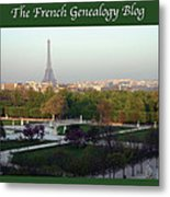 Paris In The Fall With Fgb Border Metal Print by A Morddel