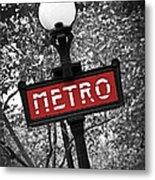 Paris Metro Metal Print by Elena Elisseeva