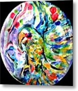 Parrot Plate  Metal Print by Martha Nelson