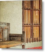Part Of A Bench Metal Print by Joan Carroll
