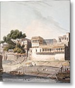Part Of The City Of Patna, On The River Metal Print by Thomas Daniell
