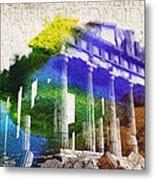 Parthenon Metal Print by Aged Pixel