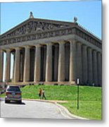 Parthenon In Nashville Metal Print by Paula Talbert