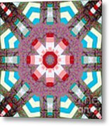 Patchwork Art Metal Print by Barbara Griffin