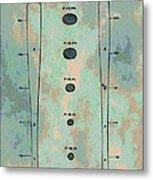 Patent Art Baseball Bat Metal Print by Dan Sproul