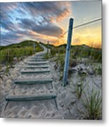 Path Over The Dunes Metal Print by Sebastian Musial