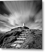Path To Twr Mawr Lighthouse Metal Print by Dave Bowman