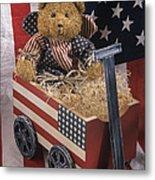 Patriot Bear Metal Print by Sharon Elliott