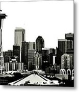 Patriotic Seattle Metal Print by Benjamin Yeager