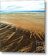 Patterns In The Tides Metal Print by Artist and Photographer Laura Wrede