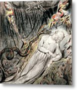 Pd.20-1950 Christs Troubled Sleep Metal Print by William Blake