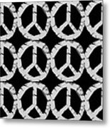 Peace In Black And White Metal Print by Michelle Calkins