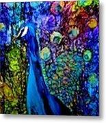 Peacock II Metal Print by Karen Walker