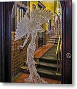 Peacock Room Door Metal Print by Diane Wood