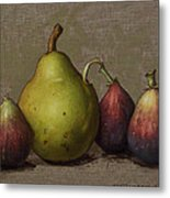 Pear And Figs Metal Print by Clinton Hobart