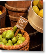 Pears - 15 Cents Per Basket Metal Print by Christine Till