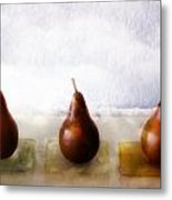 Pears In The Clouds Metal Print by Carol Leigh