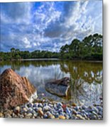 Pebble Beach Metal Print by Debra and Dave Vanderlaan