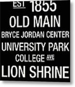 Penn State College Town Wall Art Metal Print by Replay Photos
