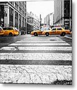 Penn Station Yellow Taxi Metal Print by John Farnan